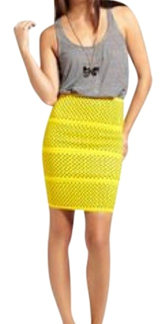 Preload https://img-static.tradesy.com/item/23143749/pleasure-doing-business-yellow-with-black-polka-dots-bandage-skirt-size-8-m-29-30-0-1-650-650.jpg