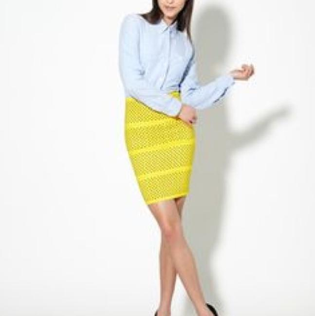Pleasure Doing Business Mini Skirt Yellow