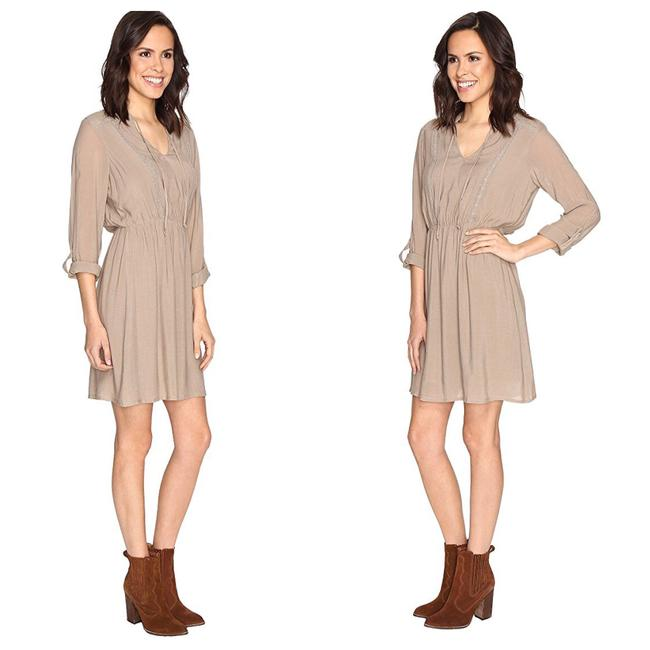 Bobeau short dress Beige on Tradesy