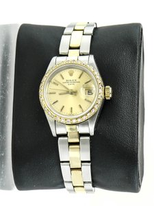 Rolex Rolex Oyster Perpetual Date Two Tone Ladies Watch