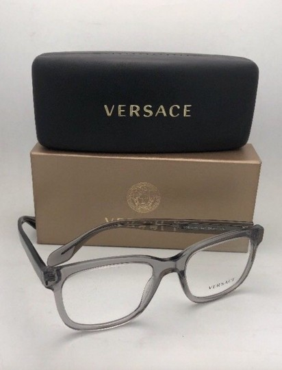 Versace New VERSACE Eyeglasses MOD.3239 593 54-20 145 Smoke Grey Transparent