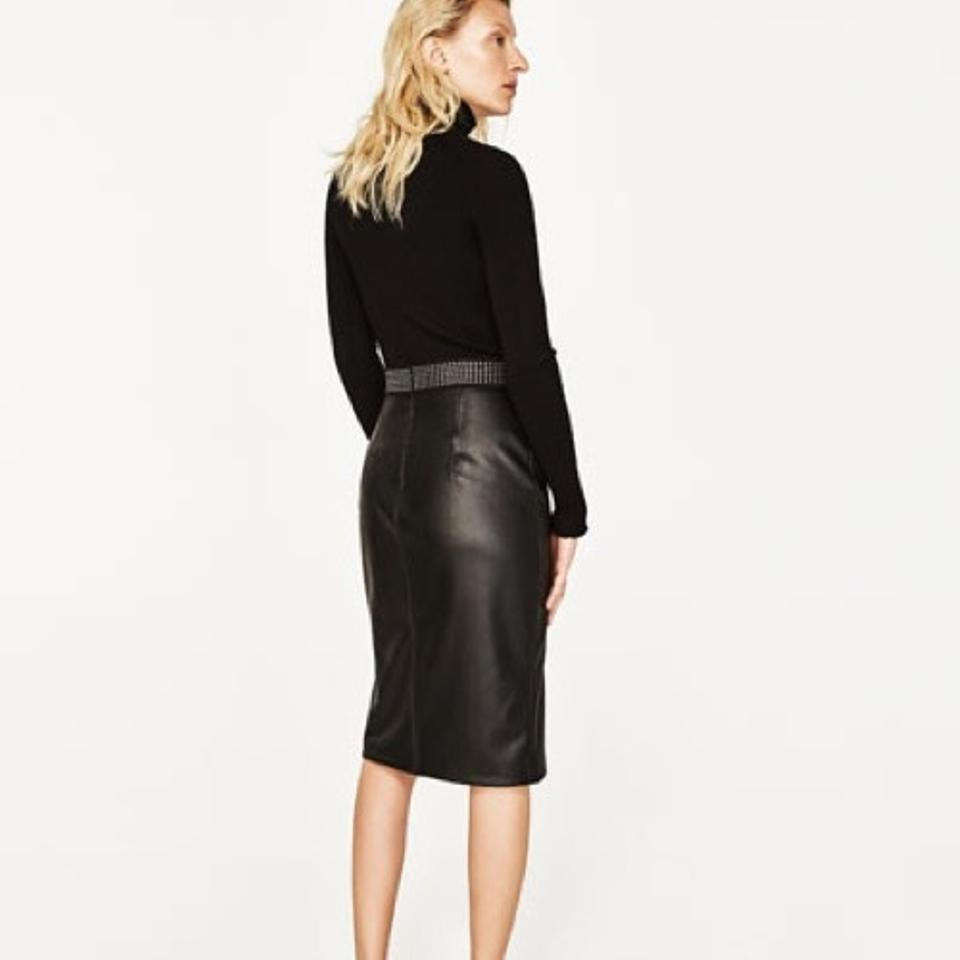 0c01d7ee90 Faux Leather Pencil Skirt