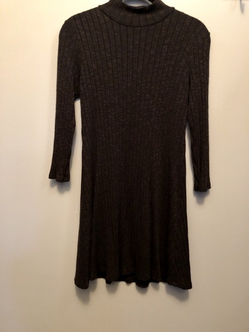 Michael Stars short dress Khaki Green Sweater High Neck on Tradesy