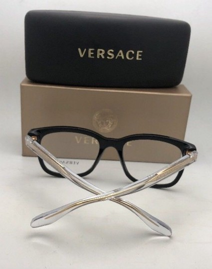Versace New VERSACE Eyeglasses MOD.3239 GB1 54-20 145 Black Gold Clear Frame