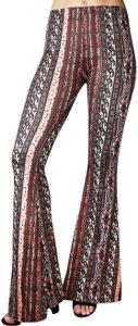 Daisy Del Sol Yoga Workout Comfy Bohemian Flare Pants Burgundy