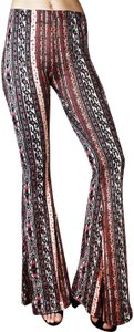 Daisy Del Sol Yoga Workout Bohemian High Waisted Flare Pants Burgundy