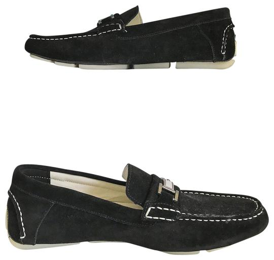 Calvin Klein Suede Loafers Black Athletic
