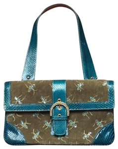 Pulicati Satchel in Teal and Green
