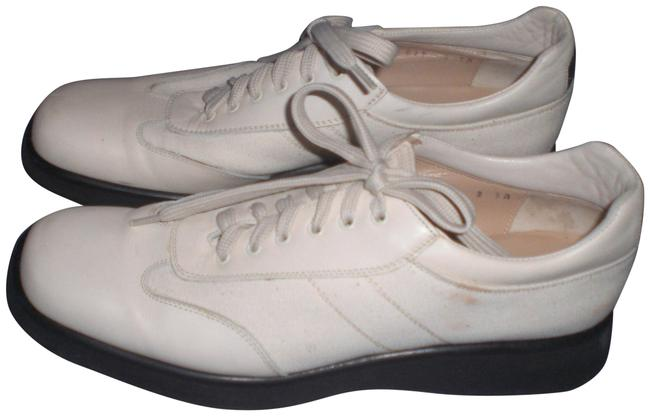 Item - Ivory Sport Leather/Canvas Lace-up Low Wedges Size US 9 Narrow (Aa, N)
