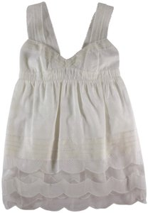 Peter Som Babydoll Lace Top White