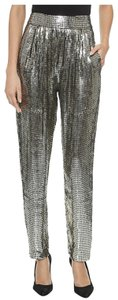Alice + Olivia Sparkle Boho Night Out Straight Pants Gold Sequin