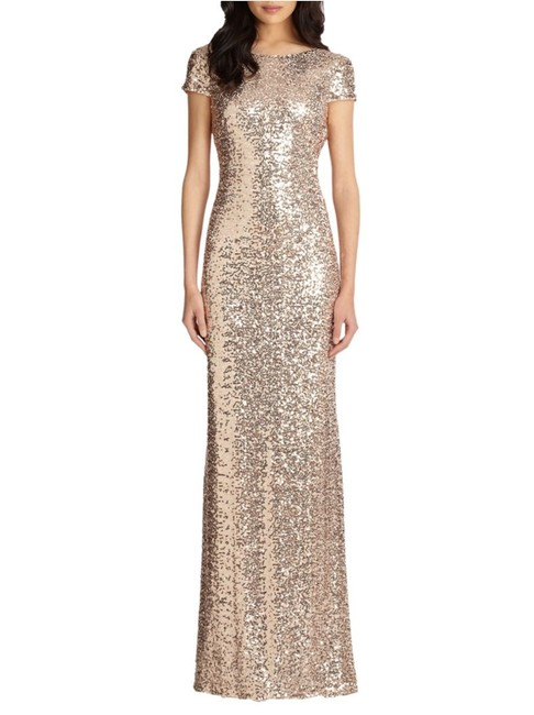 Item - Rose Gold Sequin Gown Long Formal Dress Size 2 (XS)