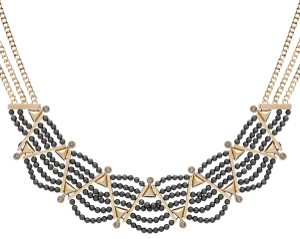 Givenchy Statment old-Tone Black Imitation Pearl Statement Necklace