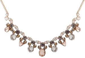 Givenchy Gold-Tone Multi-Cubic Zirconia Collar Necklace