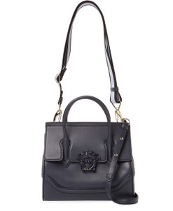 Versace Satchel In Dark Blue