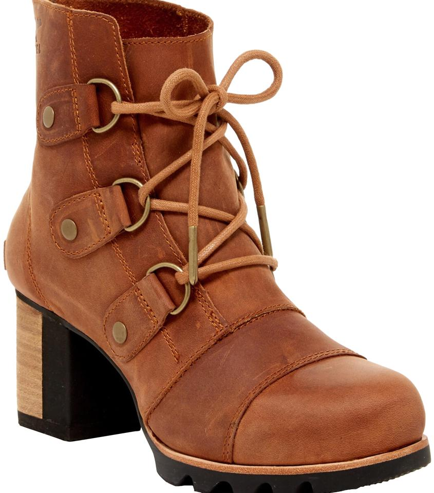 d1580069b9c2 Sorel Brown Addington Waterproof Distressed Lace-up Boots Booties ...