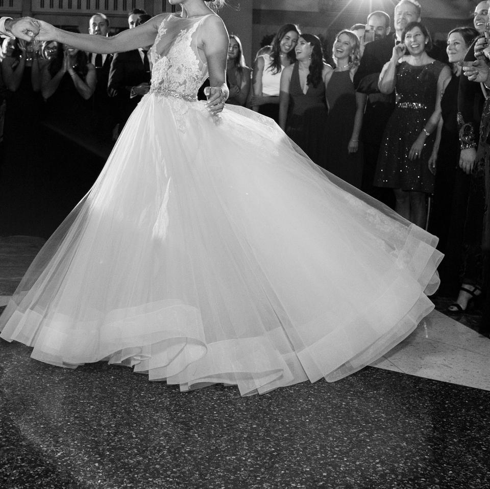 Lazaro Ivory Lace and Tulle Beaded & Ballgown Traditional Wedding ...
