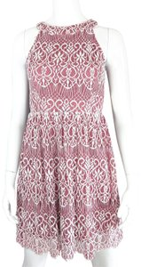 Altar'd State short dress Pink, Rose, White Crochet Stretchy Versatile Day-to-night on Tradesy