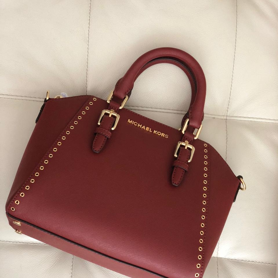 872fb08944c3 MICHAEL Michael Kors Ciara Grommet Medium Messenger Brick Red ...