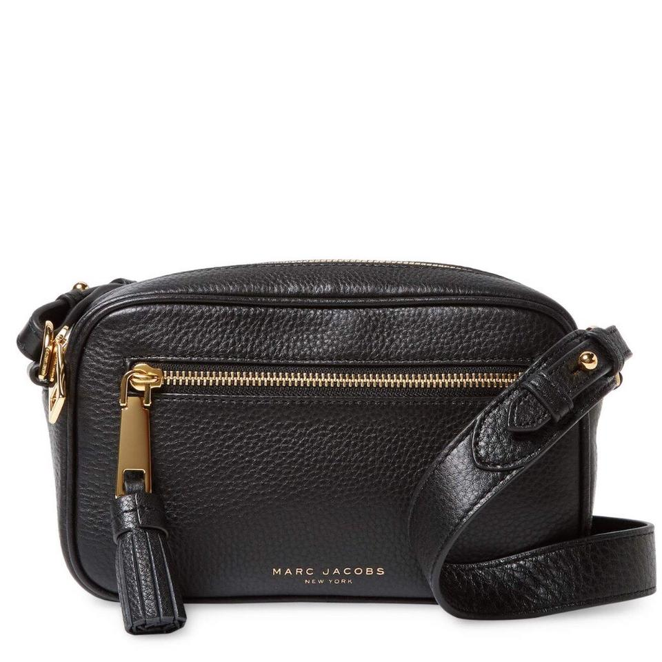 Marc Jacobs Zoom Black Leather Cross Body Bag - Tradesy