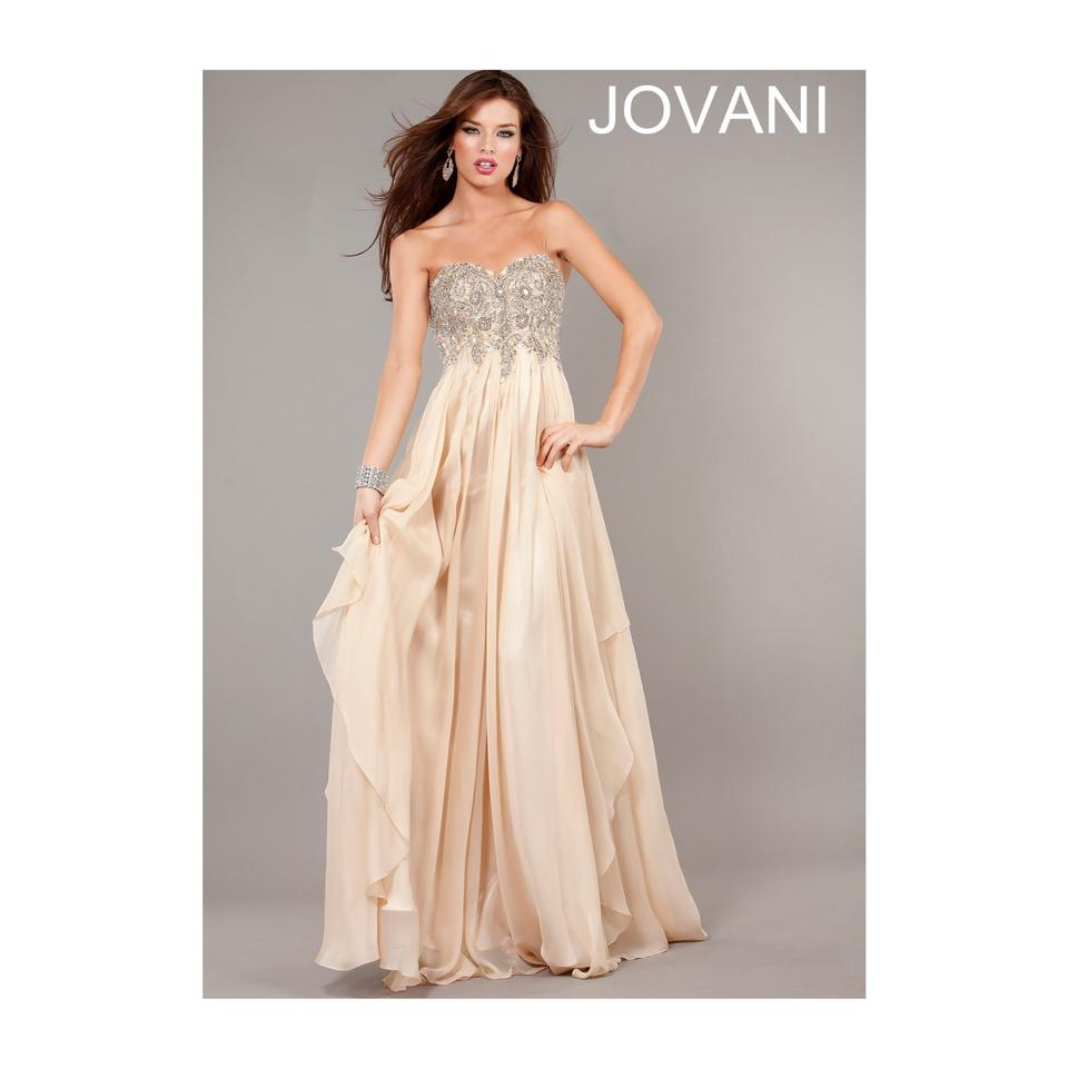 5a060b75b2d Jovani Nude Tan Gold 1560 Long Cocktail Dress Size 2 (XS) - Tradesy
