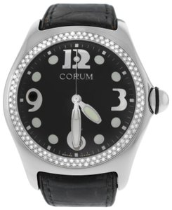 Corum Authentic Mens Corum Boutique Bubble 163.150.20 Steel Diamond Quartz