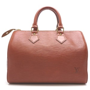 Louis Vuitton Shoulder Red Epi Tote in brown