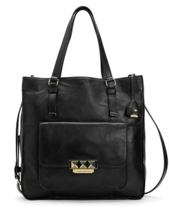 Juicy Couture Designer Studded Leather Tote in Black