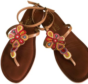 Coconuts by Matisse Boho Beaded Flat Ankle Strap Sandals