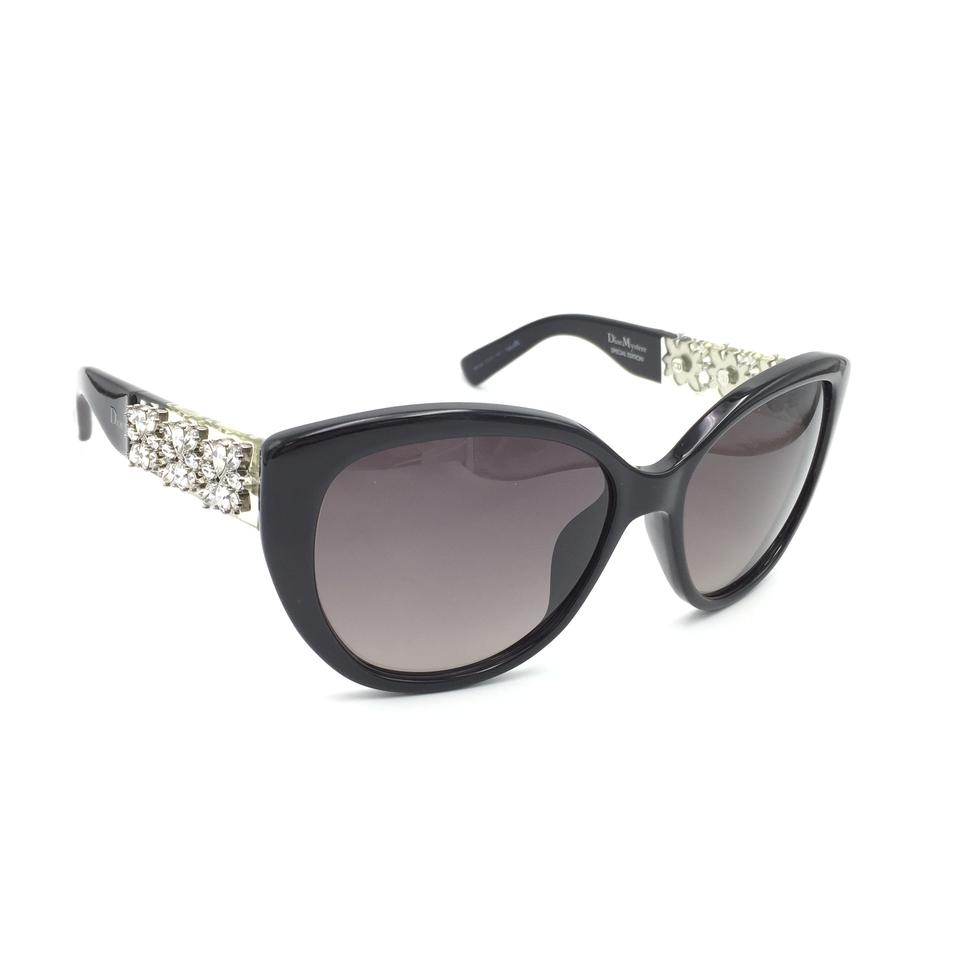 bdfccdda35b35 Dior Black Crystal Cat Eye Special Edition Mystere Am3xq Sunglasses ...