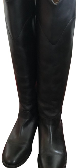 Item - Black Leather High Boots/Booties Size US 6 Regular (M, B)