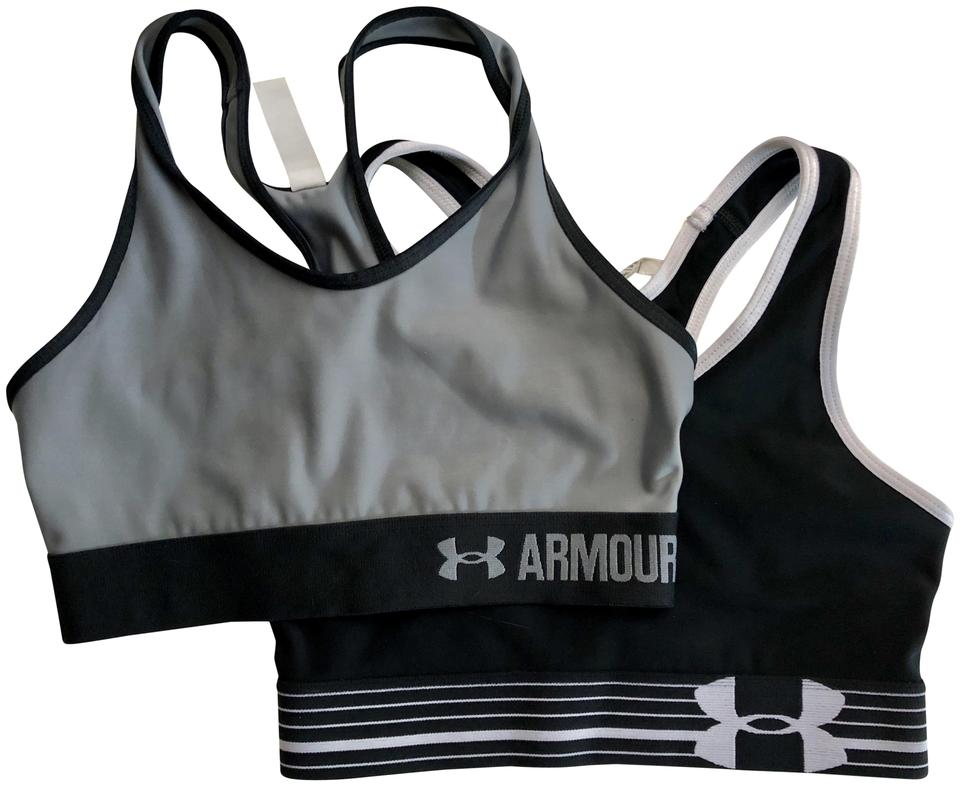 Under Armour Black Grey White Activewear Sports Bra Size 2 (XS d4dcbf7c8