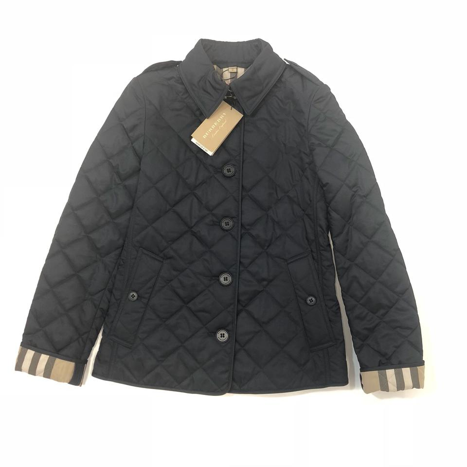 Burberry Navy Womens Frankby Quilted Spring Jacket Size 0 Xs