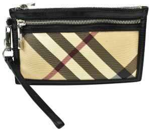 "Burberry Leather & ""Nova Check"" Clutch / Organizer /"