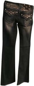 Miss Me Embellished Boot Cut Jeans-Distressed