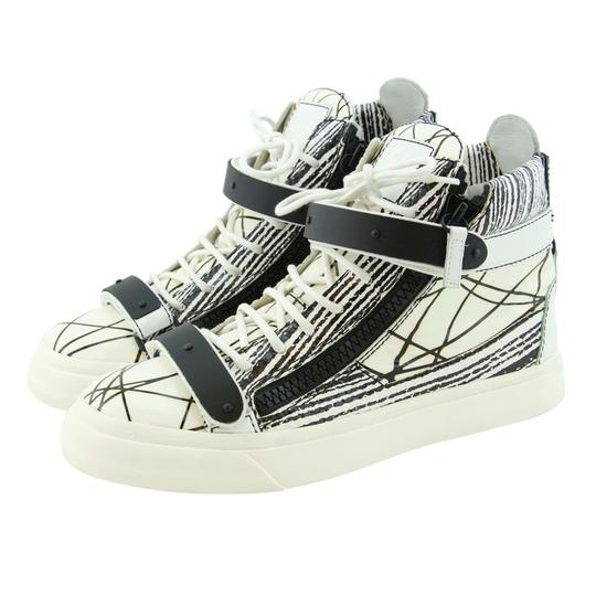 Preload https://img-static.tradesy.com/item/23146580/giuseppe-zanotti-white-new-london-scribble-print-high-top-dual-logo-strap-zip-sneakers-sneakers-size-0-0-540-540.jpg