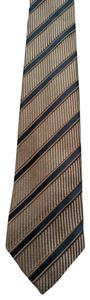 Gucci Gucci Men's Classic Beige Black Stripped Necktie 408862