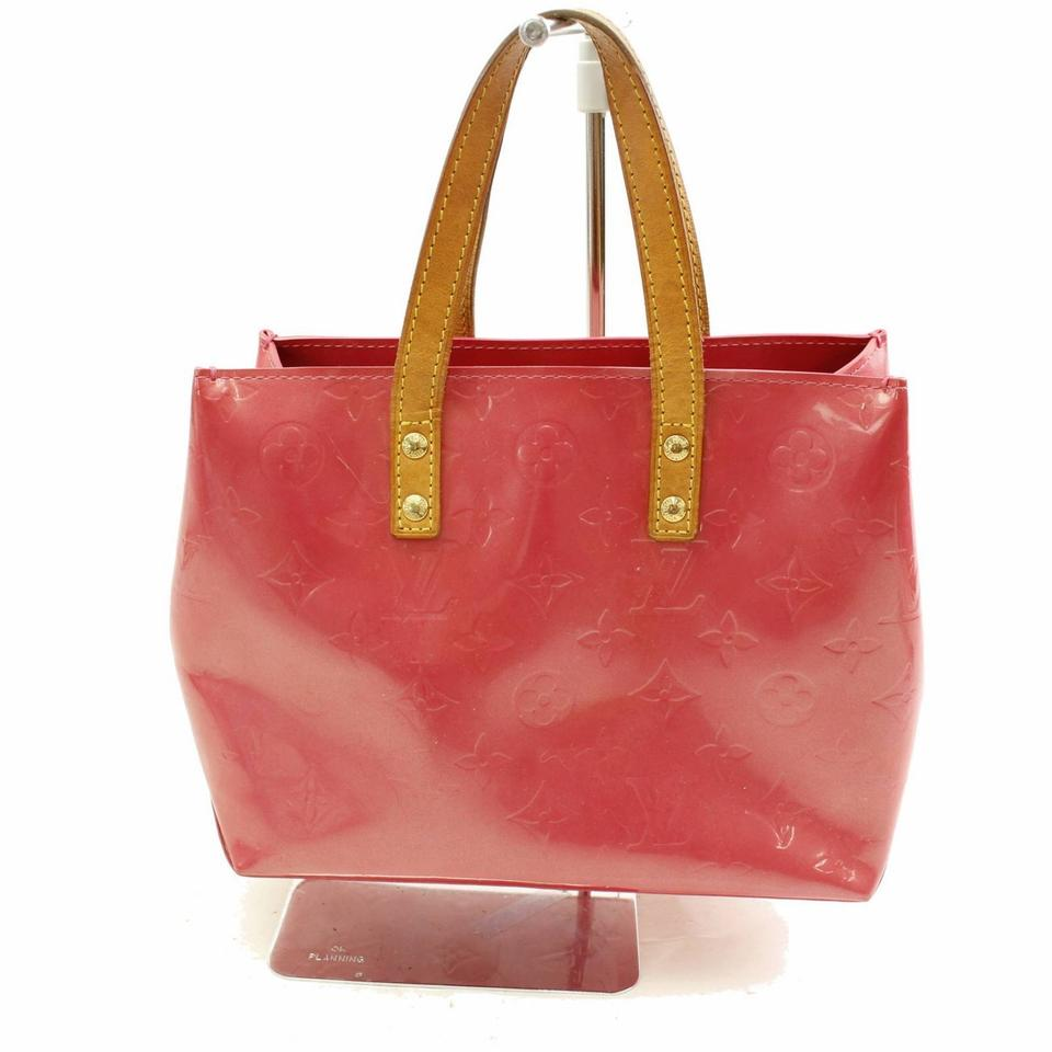 Louis Vuitton Reade Pm M91221 Lv Vernis Leather Handbags Tote In Red