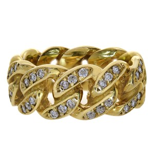 Avital & Co Jewelry 1.15 Carat Diamond Cuban Mens Ring 10K Yellow Gold