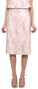 Rachel Comey Sequin Pencil Party Skirt Pink Cloud