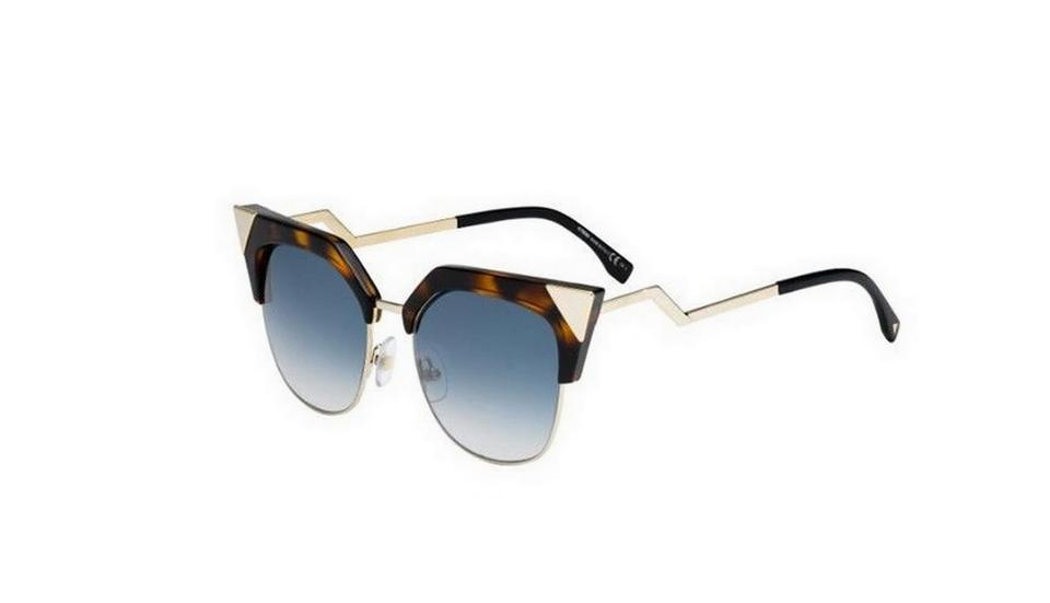 42ef16f9464d Fendi Tortoise Metal 0149 S Tlw G5 Havana Gold Ladies Cat Eye Sunglasses