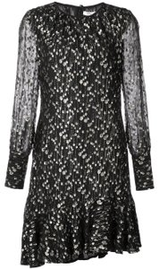 10 Crosby Derek Lam Metallic Lurex Ruffle Dress