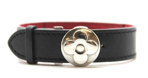 Louis Vuitton Ultra RARE Flower Butterfly Clasp silver hardware bracelet cuff bangle