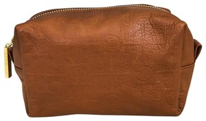Tory Burch TORY BURCH Small Brown Leather Cosmetic Case