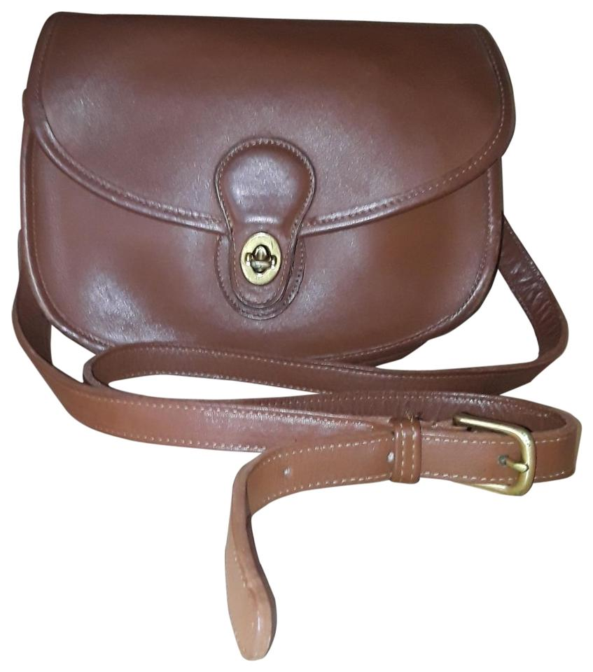 1d2a59c5ab0cf Coach Saddle Vintage Brown Leather Cross Body Bag - Tradesy