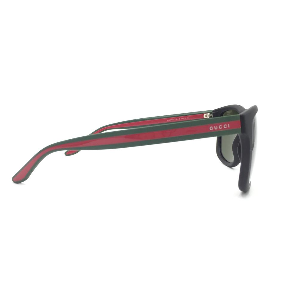 a695694e25c Gucci Matte Black Green Red Classic Square Gg118 S M1a1e Sunglasses -  Tradesy