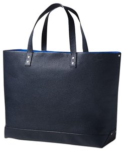 Jack Spade Leather Travel Blue Hand Made Tote in Navy
