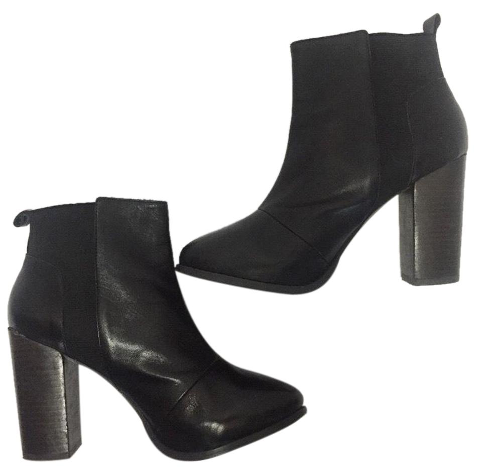 Topshop Dark Leather Brown Leather Dark Pull On Boots/Booties 09c163