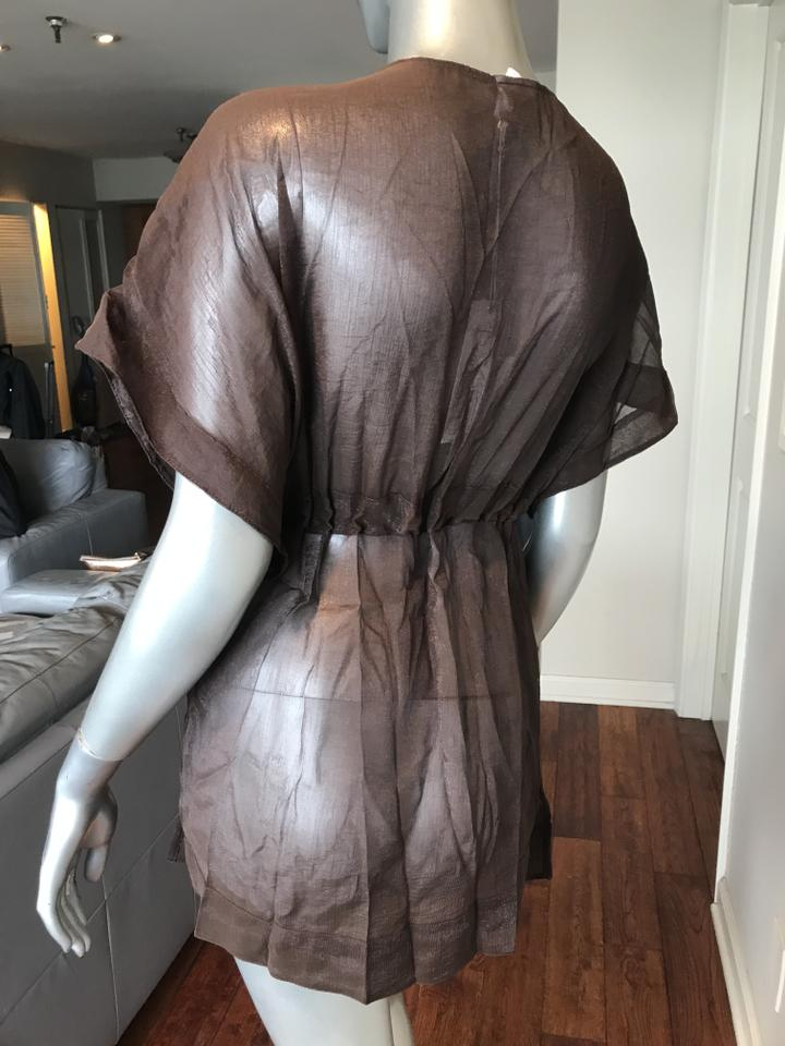 083ce47d9f4d1 Beach Bunny Brown/Gold Sexy Cover Cover-up/Sarong Size 8 (M) - Tradesy