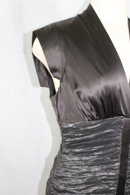 Nicole Miller Collection Chocolate and Metallic Dark Olive Style Bq0125 Mid-length Cocktail Dress Size Petite 6 (S) Nicole Miller Collection Chocolate and Metallic Dark Olive Style Bq0125 Mid-length Cocktail Dress Size Petite 6 (S) Image 6